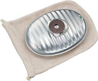 マルカ 湯たんぽ 銀色 2.2L じょうごの要らない湯たんぽ 袋付 (本体:日本製) 燦々JF-22