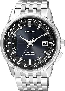 西铁城(CITIZEN)手表 光动能钢带商务休闲男士手表