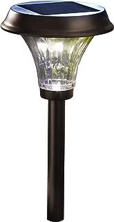 Moonrays 91754 Richmond Solar Metal Path, 360-degree Display and 120-degree Beam Angle of Warm LED, 30 Lumens, Automatic Lighting, Rubbed Bronze Finish, 2 Pack (Renewed)