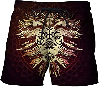 Men'S Shorts 3/4 Beach Shorts Casual Straight Printed Shorts