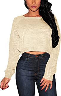 Fixmatti Women V-Neck Long Sleeve Knit Bodycon Romper
