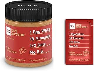 Rx Bar, Nut Butter Maple Almond Butter 10 oz jar & travel size pack 1.13 oz
