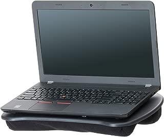 Mind Reader Portable Laptop Lap Desk with Handle, Built-in Cushion for Comfort, Black