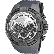 Invicta Men's Bolt Stainless Steel Quartz Watch with Silicone Strap, Grey, 32 (Model: 26528)