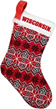 Forever Collectibles Unisex-Adult Wisconsin Badgers Holiday Stocking S10NC15KTWI-P