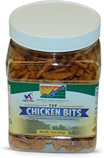 Mother Earth Products Textured Vegetable Protein Chicken Bits, Quart Jar, 12oz