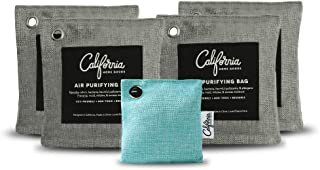 5-Pack Activated Bamboo Charcoal Bags Value Set with Refrigerator Bag, 4X 500g Grey Air Purifying Bags Plus 1x 60g Teal Natural Deodorizer Bag, Non-Toxic Unscented Odor Eliminator for Cars and Homes