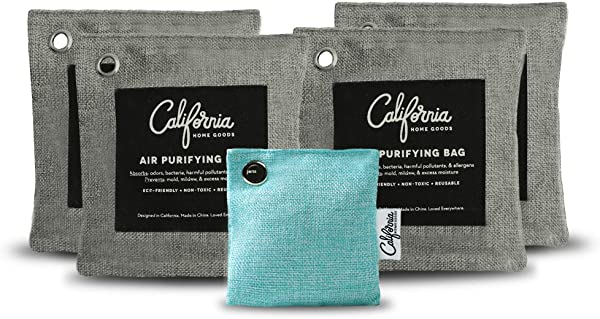 5 Pack Activated Bamboo Charcoal Bags Value Set With Refrigerator Bag 4X 500g Grey Air Purifying Bags Plus 1x 60g Teal Natural Deodorizer Bag Non Toxic Unscented Odor Eliminator For Cars And Homes