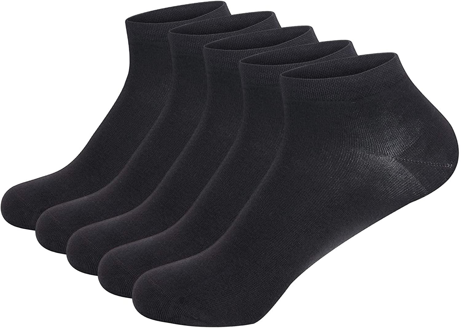 Women Bamboo Ankle Socks Ankle Length Thin Sock Odor Resistant Low Cut Sock 5 Pairs