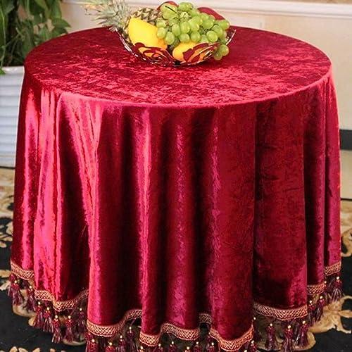 Europ che Tischdecke Europ che Tischdecken Runde Tischdecke Hei Farbe Gold Tischdecken Tee Tischdecken ( Farbe   C , Größe   Round -200cm   )