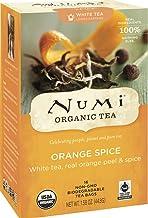 Numi Tea Organic Orange Spice White Tea ( 6x16 BAG) ( Value Bulk Multi-pack)