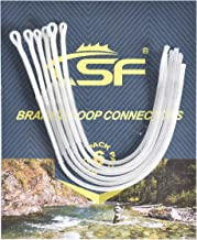 SF Fishing Braided Loop Connector High Strength Braided Leader Loops for Fly Fishing Line/ 6-pcs