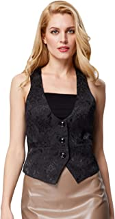 GRACE KARIN Women's Suit Vest Bartender Tuxedo Waistcoat Waitress Jacket Coat
