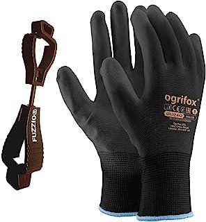 24 pares de guantes de trabaj poliuretano y clip para