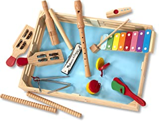 Melissa & Doug Deluxe Band Set with Wooden Musical Instruments & Storage Case