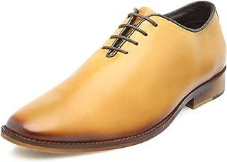 Heels & Shoes Men's Wholecut Oxford Tan Natural Leather Shoes
