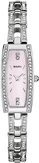 Bulova Womens 96L208XG Quartz Pink Mother of Pearl Dial Watch (Renewed)