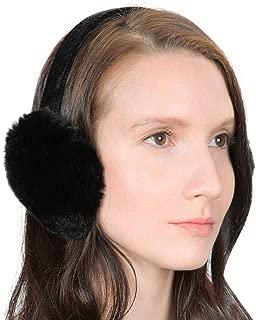 Genuine Fur Earmuffs   Luxurious Real Fur Over Ear Warmers with Headband   For Women, Teens, and Girls