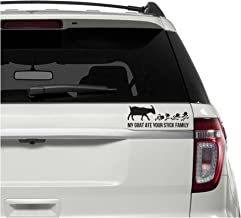 Underground Printing My Goat Ate Your Stick Figure Family - Funny Snark Vinyl Decal Sticker | 7
