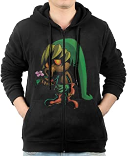 Men The Legend of Zelda Majora's Mask Hoodie Sweatshirt Black
