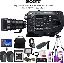 Sony PXW-FS7M2 4K XDCAM Super 35 Camcorder Kit with 18-110mm Zoom Lens (PXW-FS7M2K) W/ 120GB Memory Card, Bag, Tripod, Led Light, Sony Headphones, Mic, and External Monitor