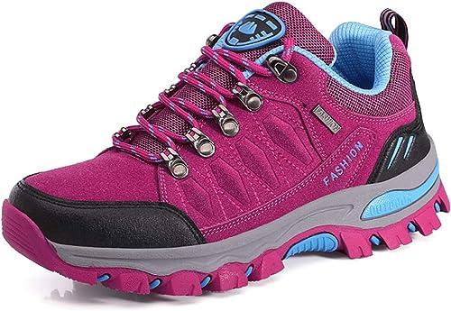 WOWEI Chaussures de Randonnée en Plein Air Imperméable Respirant Antidérapant Bottes de Trekking Promenades Voyages S...