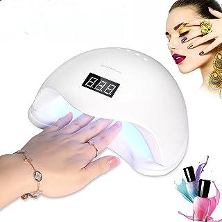 Roleadro 48W UV LED Nail Lamp Gel Polish Nail Dryer Light with Timer,Senor&Display for Nail and Toe Nail Curing