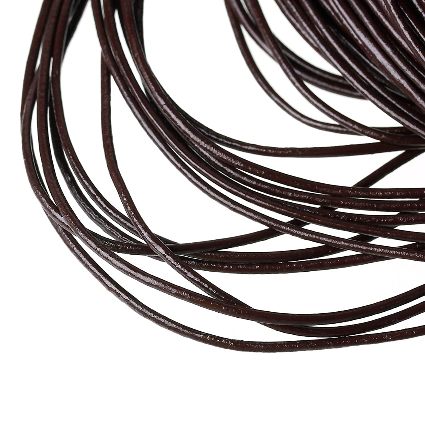 PEPPERLONELY Brand 10 Yard 1.5mm Genuine Coffee Round Leather Cords For Bracelet Necklace Beading Jewelry Making