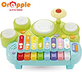 Orapple Musical Learning Station Toys with Light & Flash for Kids 1.5, 2 , 3, 4 Year Old (Green)