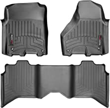 WeatherTech Custom Fit FloorLiner for Ram Truck 1500/2500/3500-1st & 2nd Row (Black)