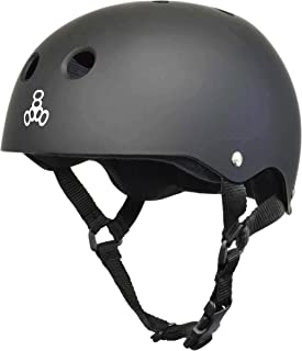 Triple 8 Mike Vallely Get Used to It with Sweatsaver Liner Gun Rubber Skate Helmet - S/M 21.7