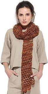 ZORJAR 100% Handmade Wool Crochet Fashion Hollow Scarf Women Scarf Scarves