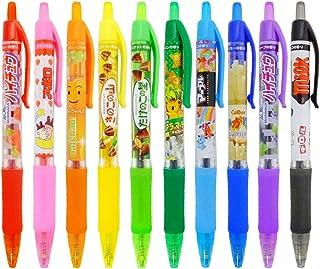 お菓子な香りつき ノック式カラーボールペン10本セット(10色) colorballpen-10s ギフトや景品にも! サカモト