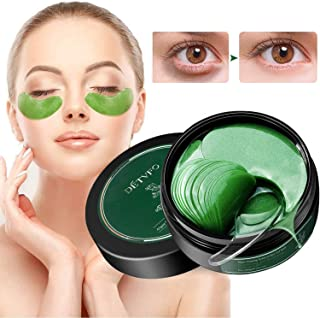 Best Under Eye Patches, JUYOU Eye Mask, Eye Gel Pads Collagen Eye Treatment Masks Reduces Wrinkles and Puffiness Lighten Dark Circles Moisturizing and Anti Aging, 60 Pieces Green Review