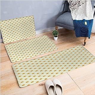 3 Piece Non-Slip Doormat 3d print for Door mat living room kitchen absorbent kitchen mat,Milky Way Inspired Astronomy Celestial Star,15.7