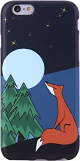 iPhone 6 Case, iPhone 6s Case,VIVIBIN Cute Lonely Fox and Moon for Women Girls Clear Bumper Best Protective Soft Silicone Rubber Matte TPU Cover Slim Fit Phone Case for iPhone 6/iPhone 6s