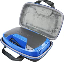 co2crea Hard Travel Case for AOMAIS 25W Bluetooth Speakers HD Stereo Sound Deep Bass Portable Outdoor Wireless Stereo Pairing Speaker (Black Case + Blue Zipper)