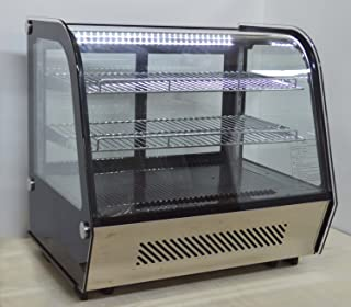 110V Commercial Countertop Cake Display Cabinet Cake Show Case 120L 35.6-53.6 F Item # 210088