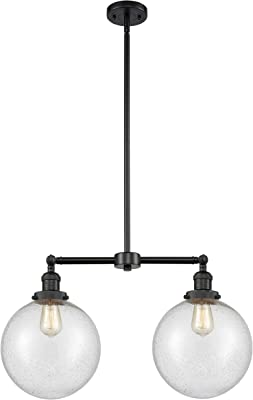 Innovations 209-BK-G204-10-LED X-Large Beacon 2 Light Chandelier Part of The Franklin Restoration Collection, Matte Black