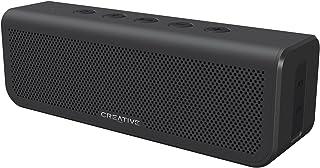 Creative Metallix Plus Bluetooth ポータブル スピーカー IPX5の防水機能 24時間の長時間再生 迫力の重低音 2台でワイドなワイヤレス ステレオ ライン入力端子 ハンズフリー通話 高級感のあるブラック SP-...