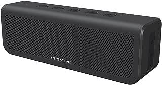 Creative Metallix Plus Bluetooth ポータブル スピーカー IPX5の防水機能 24時間の長時間再生 迫力の重低音 2台でワイドなワイヤレス ステレオ ライン入力端子 ハンズフリー通話 高級感のあるブラック SP-MTLXP-BK