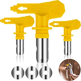 3 Pieces Reversible Airless Sprayer Tip Airless Paint Spray Guns and Airless Sprayer Spraying Machine Parts for Homes Buildings Decks or Fences (213)
