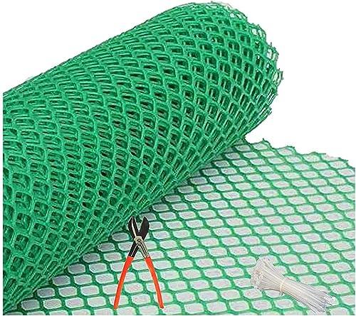 MESH MASTERS PVC Garden Fencing Net_Mesh (3.3feet Height /10feet Length) UV Stabilized 800 GSM Anti Bird Net Green Co...