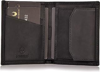 DONBOLSO® Rom | Miniportafoglio con protezione RFID | Portafoglio sottile con scomparto per monete | vero cuoio | Portafog...