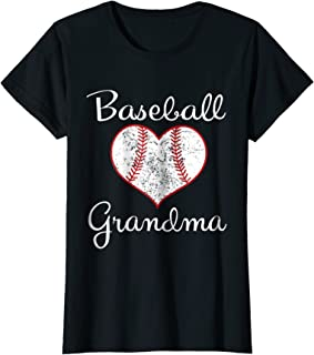 Womens Vintage Baseball Grandma T-Shirt