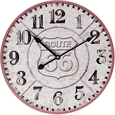 Large Wall Clock Rustic Decorative Vintage Wooden Wall Clock Silent Non Ticking Battery Operated Quartz Movement Hanging Clock For Living Room Dining Room Den Bedroom Kitchen 24 Inches Amazon Ca Home Kitchen