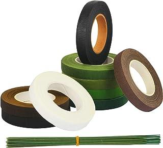 4 x cinta de color verde claro Tallo Florista para corsages Flores y Azúcar Botón Agujeros