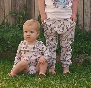 Dusty Road Apparel Organic Baby Onesies | Long Sleeve Onesie | Blossoms | 000-1
