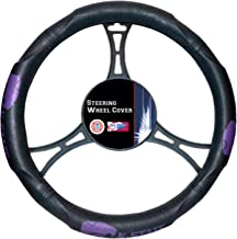 "Officially Licensed NCAA Kansas State Wildcats Steering Wheel Cover, 14.5""-15.5"", Black"