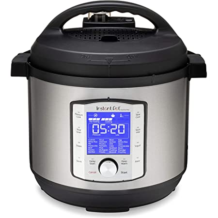 Instant Pot Duo Evo Plus Pressure Cooker 10 in 1, 8 Qt, Easy Grip Handles, Stainless Steel/Black